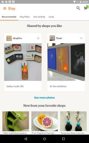 Novosti radnje se prikazuju na naslovnici aplikacije